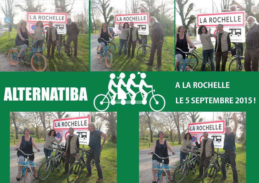 Arrivée du Tour Alternatiba à La Rochelle