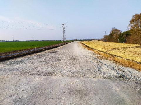 qu'elle est belle la nouvelle route de Saint Rogatien à Dompierre